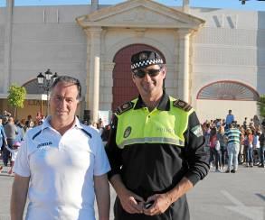 Juan Antonio Portillo, presidente del club El Gallo y Joaquín Rodríguez.