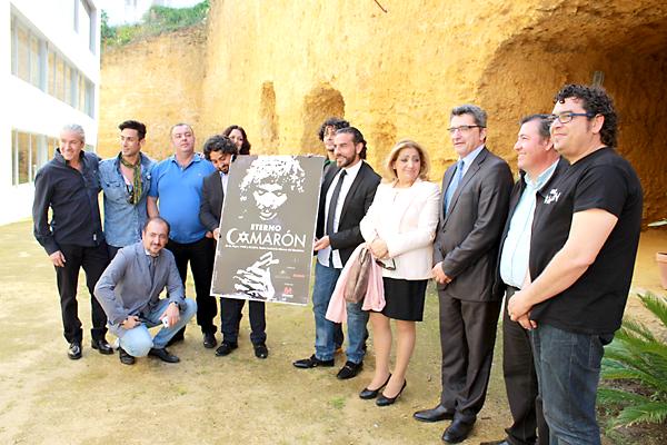 Presentación del espectáculo 'Eterno Camarón' con los familiares del artista.