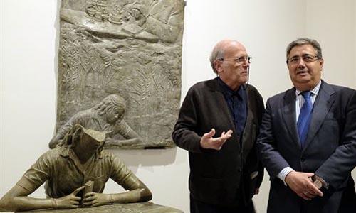 La escultura de Antonio Machado.
