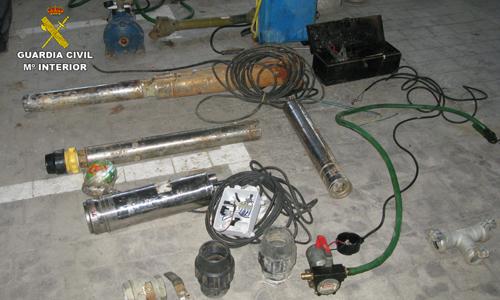 Algunos objetos robados han sido recuperados por la Guardia Civil.