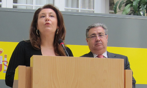 Crespo y Zoido durante la rueda de prensa.
