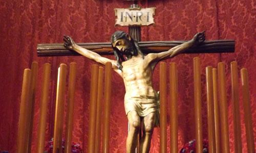 El Cristo de la Vera-Cruz de Coria del Río se considera el Crucificado más antiguo que procesiona. / Foto: Alba Poveda