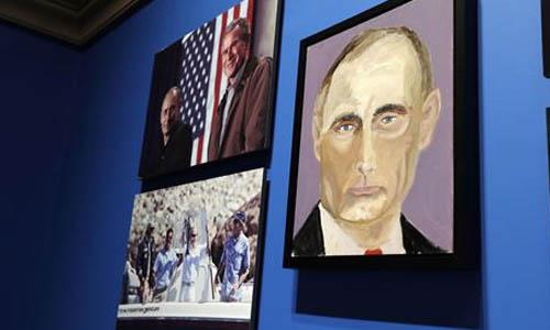 Cuadros Bush Putin