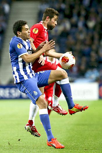 Oporto - Sevilla FC. / Foto: EFE