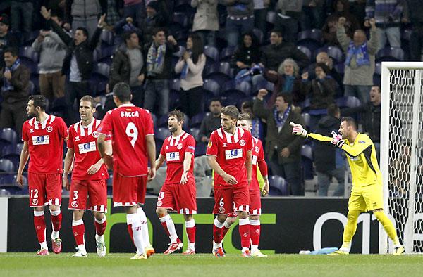 Oporto - Sevilla FC. / Foto: Ramón Navarro