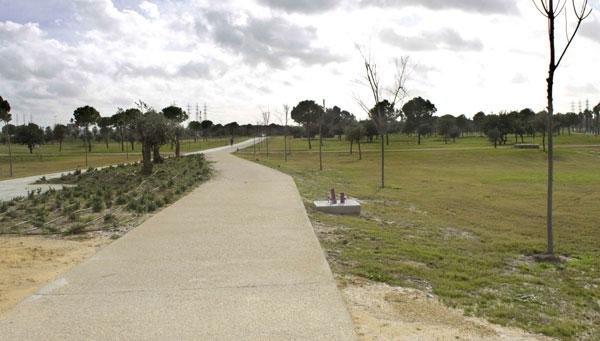 Una zona del nuevo parque Guadaíra, el pasado mes de enero. / Manuel R.R.