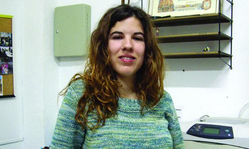 Sara Nicolas voluntaria