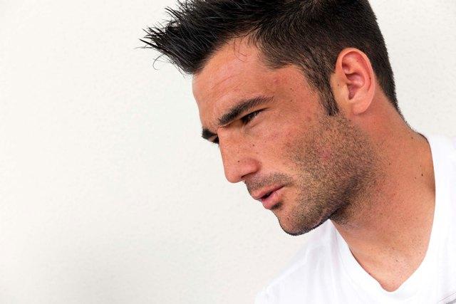 Adán, en otro momento de la entrevista / José Luis Montero