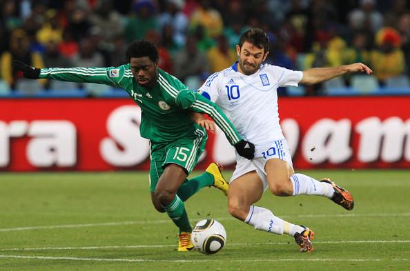 Haruna, jugando con las Águilas Verdes (la selección nigeriana).