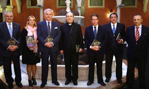 Francisco Berjano, anoche en la presentación del libro del pregón.