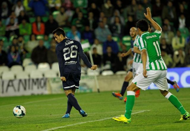 Juanmi marca el 1-1 para el Málaga / Ramón Navarro