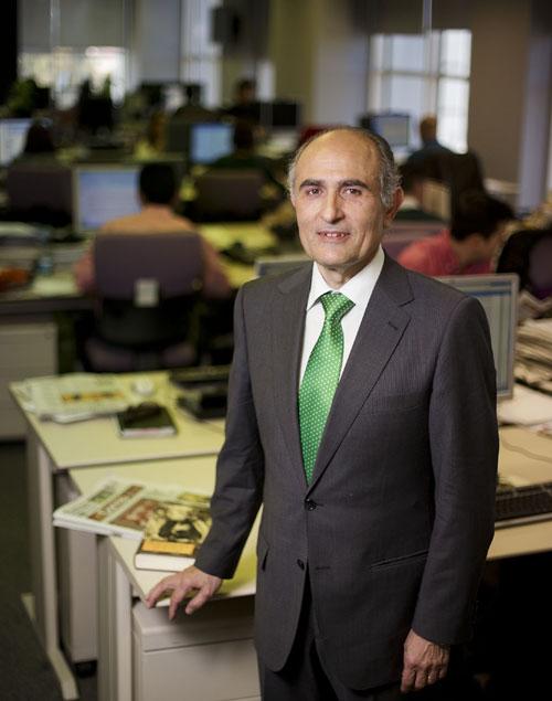 El nuevo director de El Correo de Andalucía,David López Royo, en la redacción del decano de la prensa sevillana. / Foto: Pepo Herrera