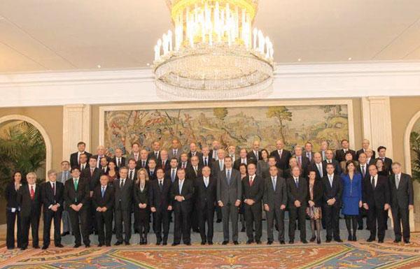 La cúpula de la Confederación Española de Directivos y Ejecutivos, con Isidro Fainé a la cabeza, fue recibida recientemente por el Príncipe de Asturias.