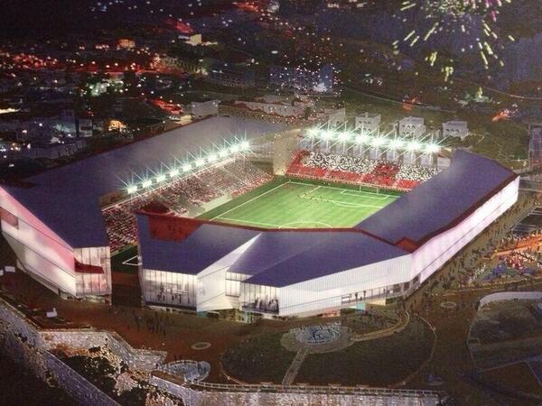 Proyecto del estadio en Gibraltar. / @GibraltarFA