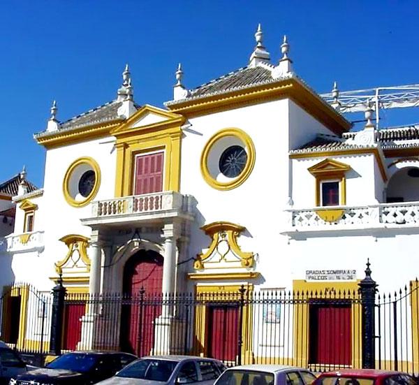 Fachada de la Plaza de Toros de La Maestranza.