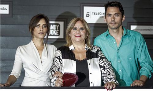 La familia León Barrios en la presentación de 'Carmina y amén'.