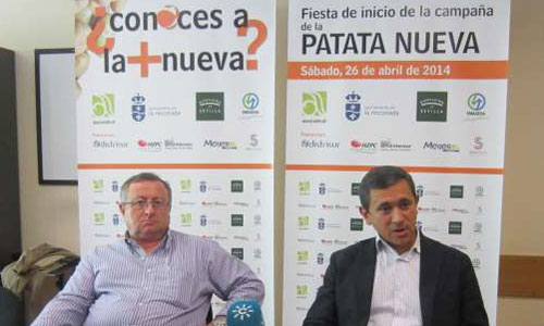 José Ramón Aguado, presidente del Comité de Patata de FEPEX, y Javier Boceta, portavoz de Asociafruit. / Foto: El Correo