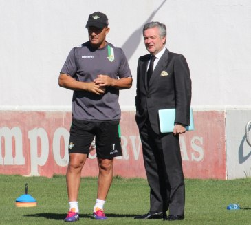 Manuel Domínguez Platas, junto a Gabriel Humberto Calderón este miércoles / Real Betis