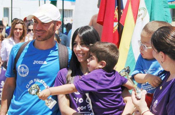 Momento de la primera edición de la carrera benéfica #YoCorroPorBorja.