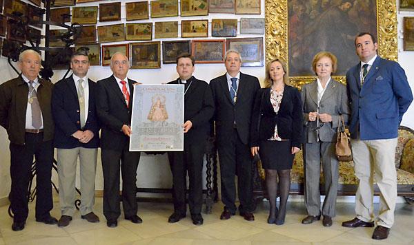 Acto de presentación en el que se presentó el cartel del Año Jubilar de la Virgen de Consolación y las colgaduras para el triduo. / Salvador Criado