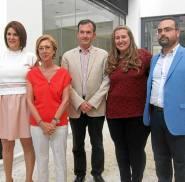 Rosa Díez, UPyD, con candidatos andaluces a las europeas