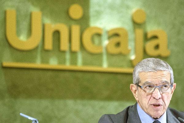 Braulio Medel, presidente de Unicaja. / EFE