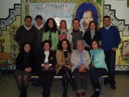 El grupo de profesores que conforma el jurado del concurso literario.