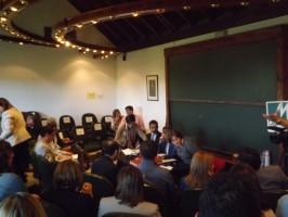 El pleno del pasado 22 de abril en el que se disolvió la Mancomunidad del Bajo Guadalquivir. FOTO: A. Poveda