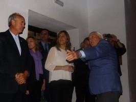 Susana Díaz junto a Juan Ramón Gillén, Francisco Casero y el alcalde de La Rinconada, Javier Fernández.