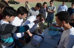 El grupo de alumnos salesianos que realizó el experimento. Foto: Salvador Criado