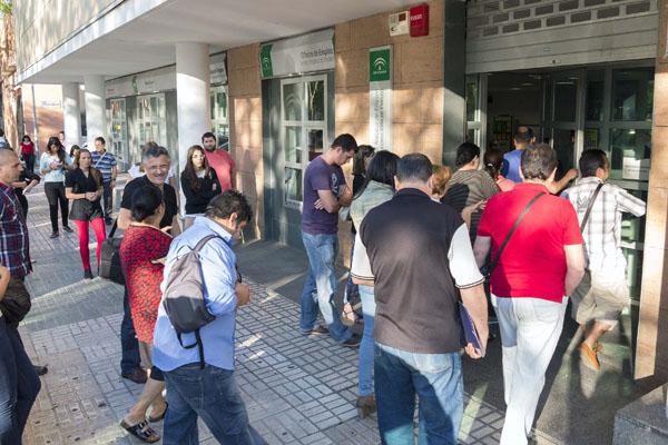 Andaluc a encabeza el recorte nacional del paro por el for Oficina de desempleo malaga