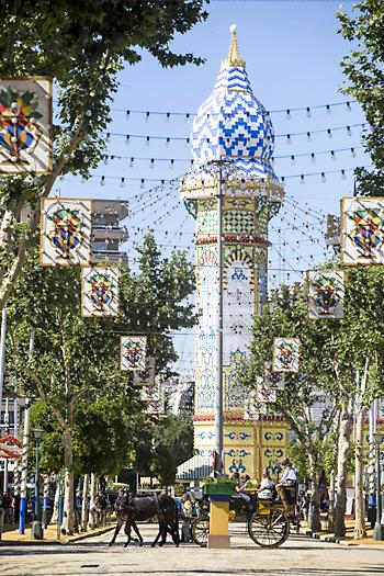 Ambiente en el Real el último día de Feria. / Foto: Carlos Hernández