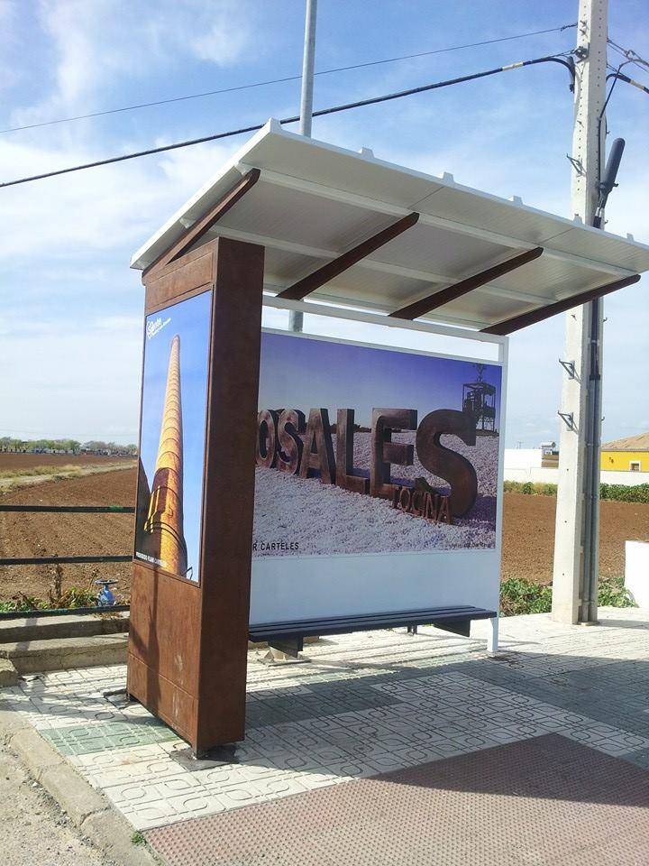 Una de las nuevas paradas de Tocina-Los Rosales. Foto: Auxi Contreras