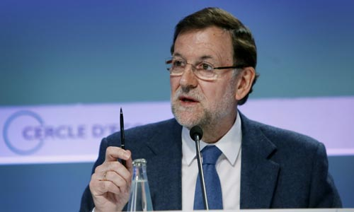 Mariano Rajoy, durante su intervención en la XXX Reunión del Círculo de Economía de Sitges./ EFE
