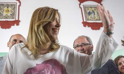 SUSANA DÍAZ CELeBRA RESULTADOS PSOE EN ANDALUCÍA