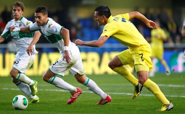 El murciano Botía ha logrado disputar 33 partidos en Liga esta temporada en las filas del Elche. / Carme Ripollés