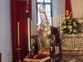 La Virgen de Valme ha vuelto a Dos Hermanas después de cuatro meses en el IAPH. Foto: Helena Peña