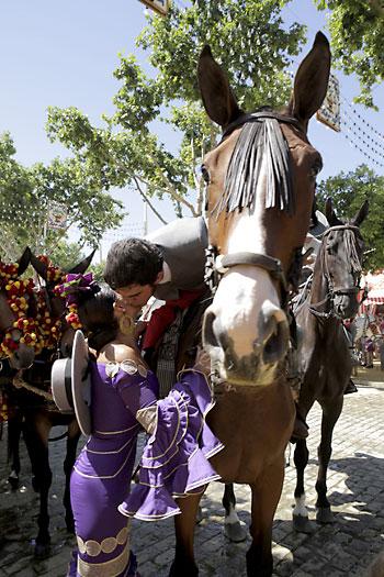 Ambiente en el Real de la Feria este martes. / Foto: Pepo Herrera