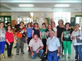uno de los grupos del Aula de la Experiencia palaciega. Foto: Álvaro Romero