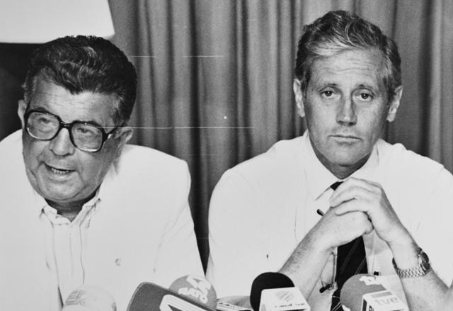 José Carlos Campos Camacho (izquierda), en su etapa como vicepresidente con Hugo Galera.