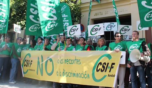 Concentración de CSIF en contra de los recortes