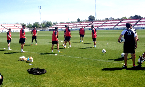 entrenamiento Sevilla Villarreal