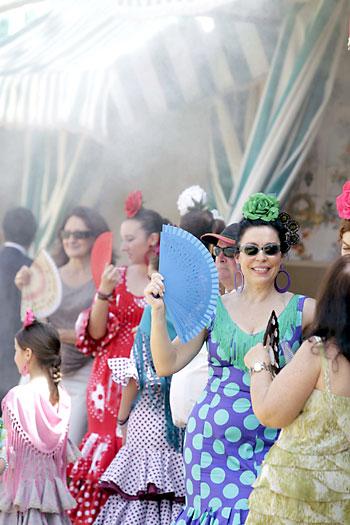 Ambiente de este sábado en la Feria. / Foto: José Luis Montero