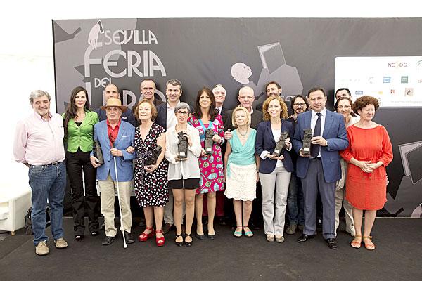 Jesús Ferrero, ayer en la Feria del Libro de Sevilla. / Foto: El Correo