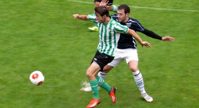 Un lance del partido entre el Anguiano y el Betis B / Real Betis
