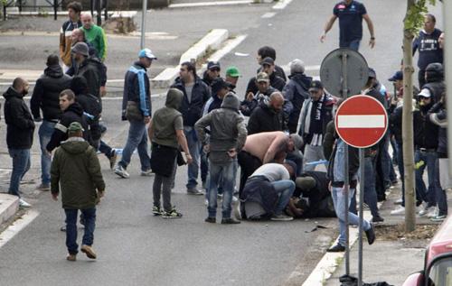 heridos Italia Napoles Fiorentina
