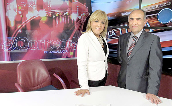 Elizabeth Ortega y David López Royo, este miércoles en La Lupa. / Rodríguez Aparicio