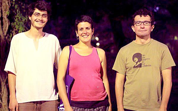 Los candidatos de Podemos por Sevilla Jesús Jurado, Carmen Yuste y Jesús Castillo. / El Correo