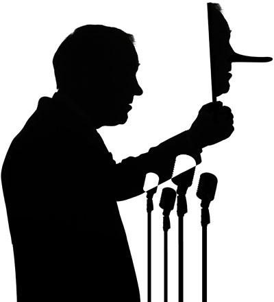 Resultado de imagen para silueta de politico callado