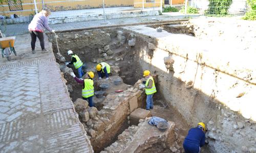segunda fase excavación plaza san josé-Carmona